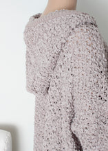 Load image into Gallery viewer, popcorn knit hoodie