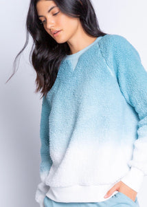 sherpa ombre lounge top