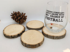 wood slice coaster set