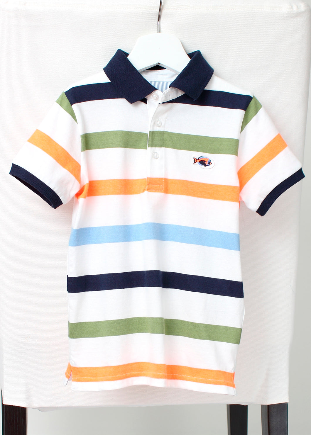 short sleeve stripe polo-boys