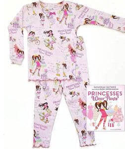 kids pj & book - princess pants