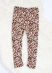 girls leopard legging