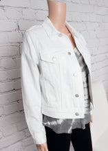 Load image into Gallery viewer, white denim jacket 565