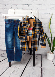 boys lined plaid shirt jacket
