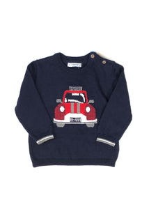 boys 2 piece car sweater & pant set