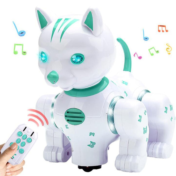 Remote Control Intelligent Robot Cat Infrared Remote Control Music Lighting Voice Pet Touch Dazzling Dance Children's Puzzle Toy
