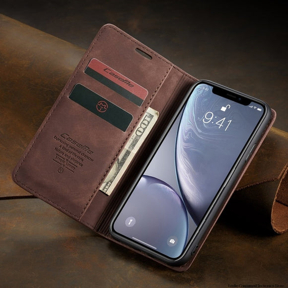 Ultra-Thin Business Wallet Mobile Phone Case Fashionable Mobile Phone Wallet Holster For iPhone Xr Super high value of use