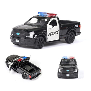 RMZ Model Car 1:36 Police Car Series Diecasts & Toy Vehicles Metal Alloy Simulation Pull Back Toys For Kids Gifts For Children