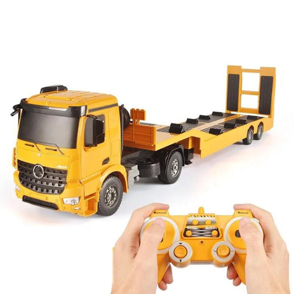 Remote Control Toy Tractor Flatbed Truck Truck Tractor Trailer Child Electric Remote Control Engineering Truck Boy Toy Gift
