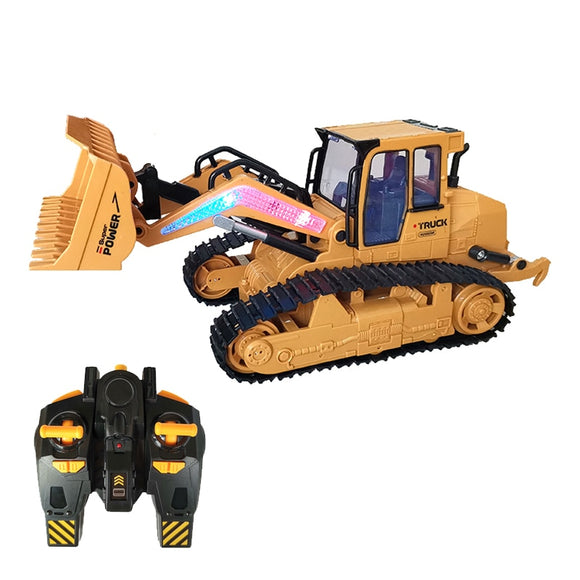 RC Bulldozer RC truck engineering car toy model Boy toys Forklift Big size Bulldozer Tractor shovel model kids children RC toys
