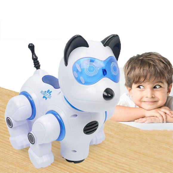 Wireless Remote Control Intelligent Machine Dog Early Education Puzzle Electric Toy Dog Touch Sensor Children Electronic Pet