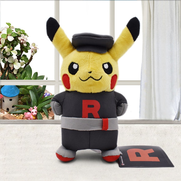 Pikachu Cosplay Team Rocket Peluche High Quality doll Plush Dolls Cute Soft Stuffed Toys 22cm Children Gift