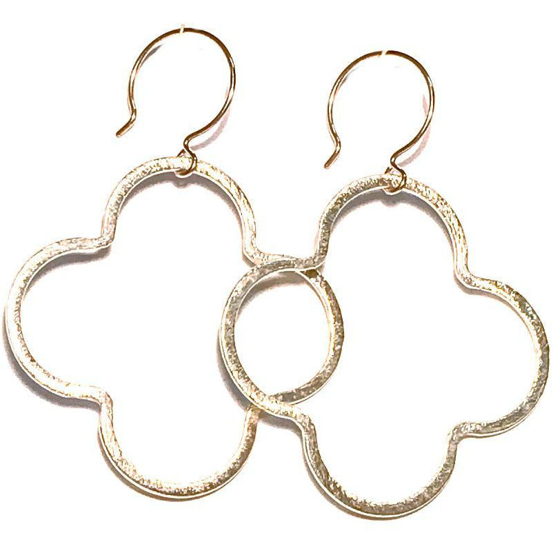 Meredith Quatrefoil Drop Earrings