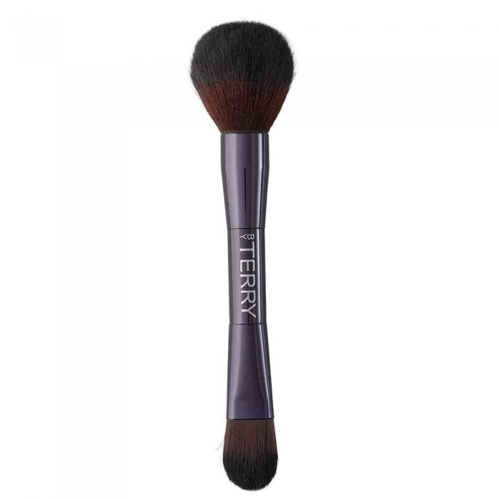 DUAL-ENDED FACE BRUSH FOUNDATION AND POWDER BRUSH