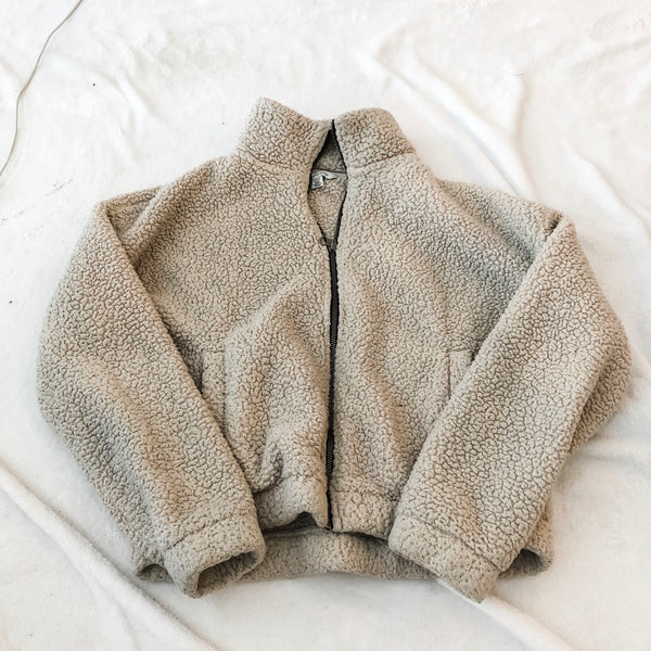 American Eagle Zip-Up Sherpa - M