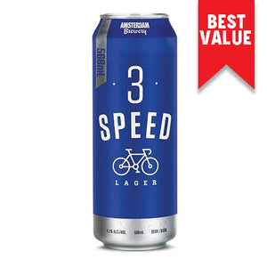 3 Speed Lager 568ML Can | 25 PACK