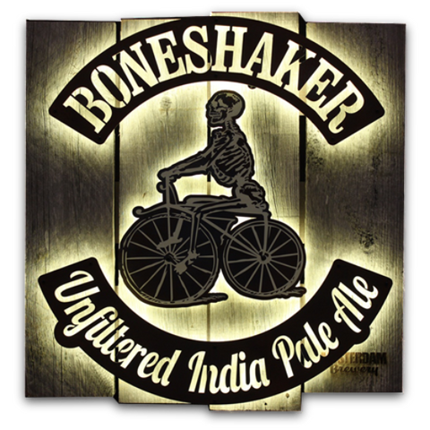 Wall- LED Boneshaker sign