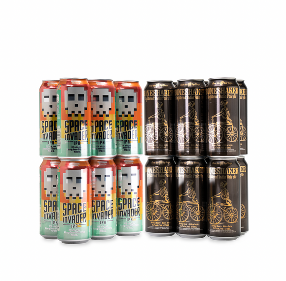Boneshaker & Space Invader IPA Mix Pack | 25 Pack