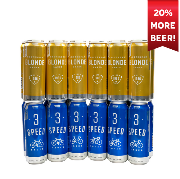 Extra Tall (+20%) 3 Speed & Blonde Lager Mix Pack | 25 Pack