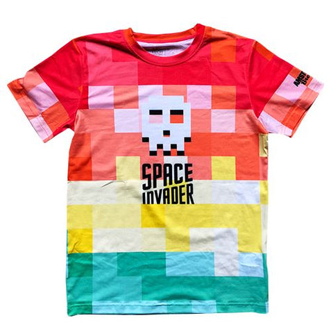 T-Shirt Space Invader Multi-Colour