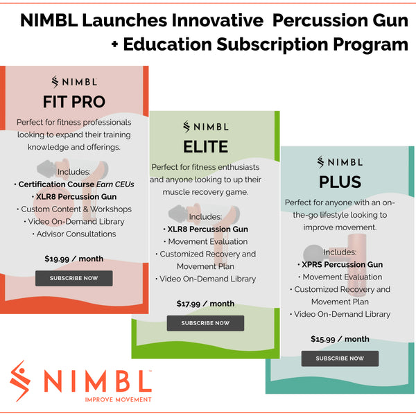 NIMBL Launches First-To-Market Subscription Programs for Muscle Recovery Products & Education