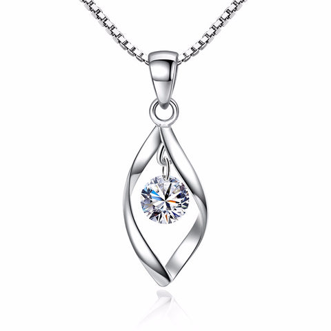 Eye Necklace - 925 Sterling Silver New Fashion Shiny Crystal - Vizfe