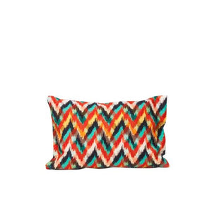 IKAT PILLOW RED AND BLACK