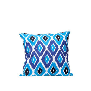 IKAT PILLOW BLUE AND BLACK