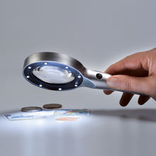 Load image into Gallery viewer, Aluminum Magnifier with 6 LED's