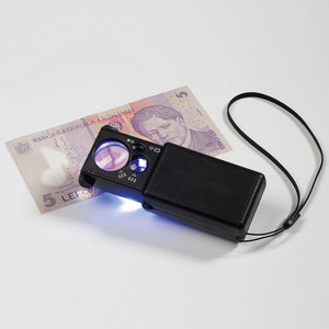 10 X Magnifier with LED & UV