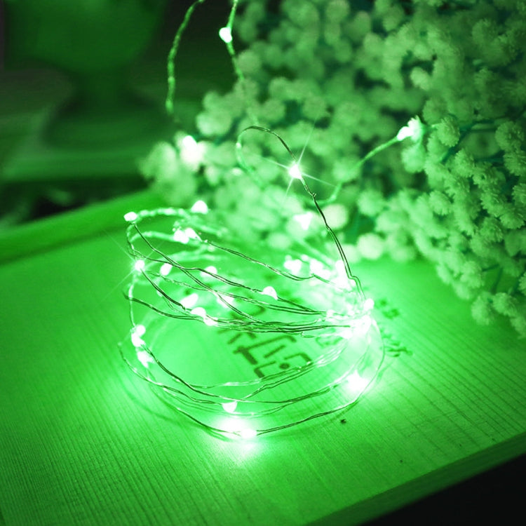 10m USB Silver Wire String Light met afstandbediening (Green Light)