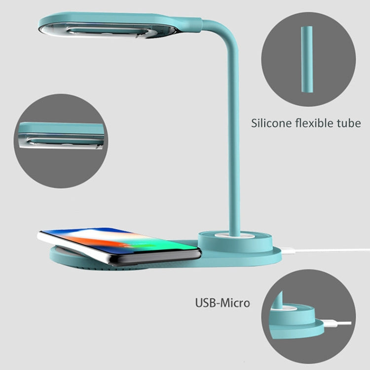Multifunctionele USB LED-lamp Touch Light met Qi Wireless Charging Pad (Wit)