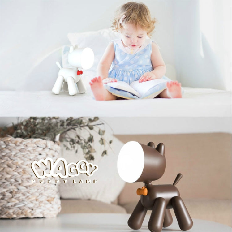 LED Puppy Bureaulamp USB (Wit)