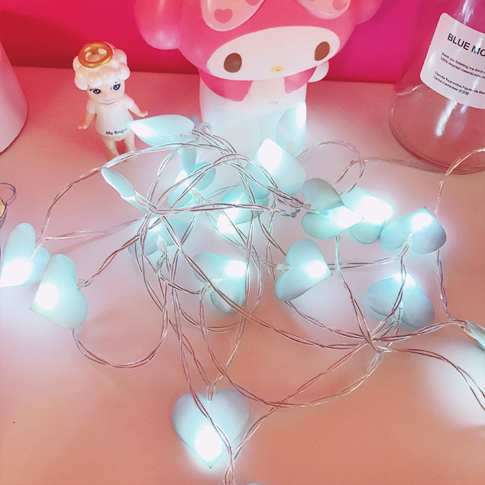 LED Fairy Lights Love Heart 3m 20LEDs(Pink)