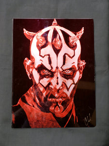 Darth Maul Color Metal Art Print