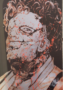 limited edition BLOOD SPLATTER Leatherface