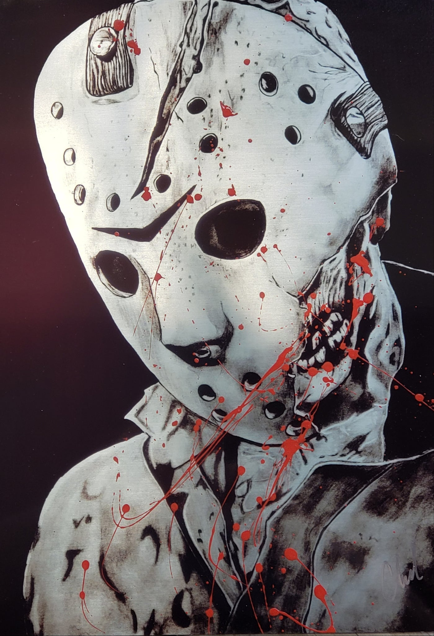 Limited edition BLOOD SPLATTER Jason