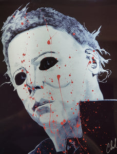 Limited edition BLOOD SPLATTER Myers
