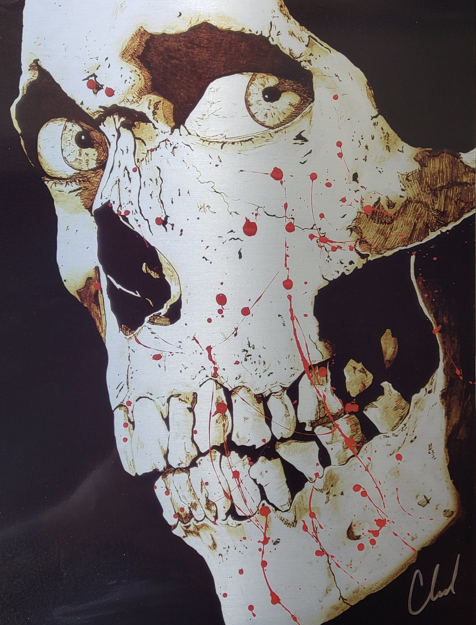 limited edition BLOOD SPLATTER evil dead