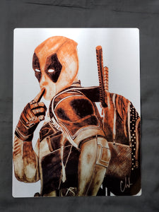 Deadpool Metal Art Print