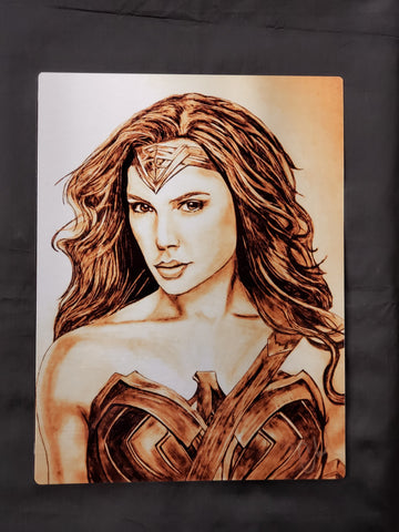 Wonder Woman Gal Gadot Metal Art Print