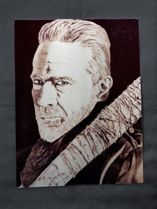Negan Walking Dead Metal Art Print