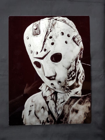 Jason Voorhees Friday the 13th Metal Art Print