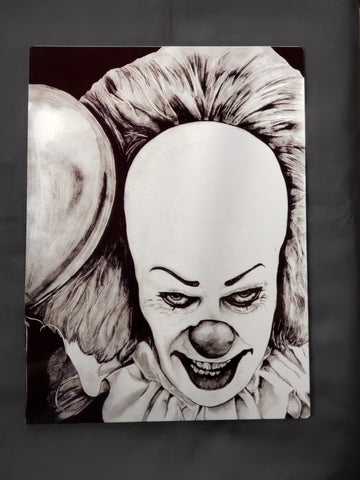 Pennywise Tim Curry It Metal Art Print