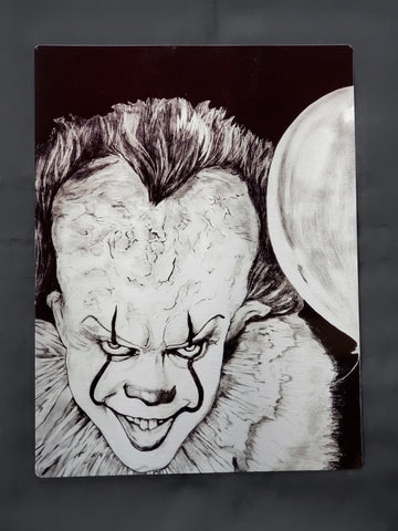 Pennywise Bill Skarsgard It Metal Art Print