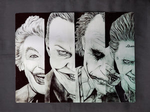 Joker through the years Metal Art Print