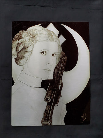 Princess Leia Star Wars Metal Art Print