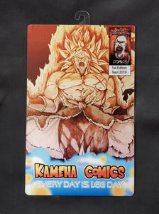 Dragonball's Broly  Comic Metal Art Print