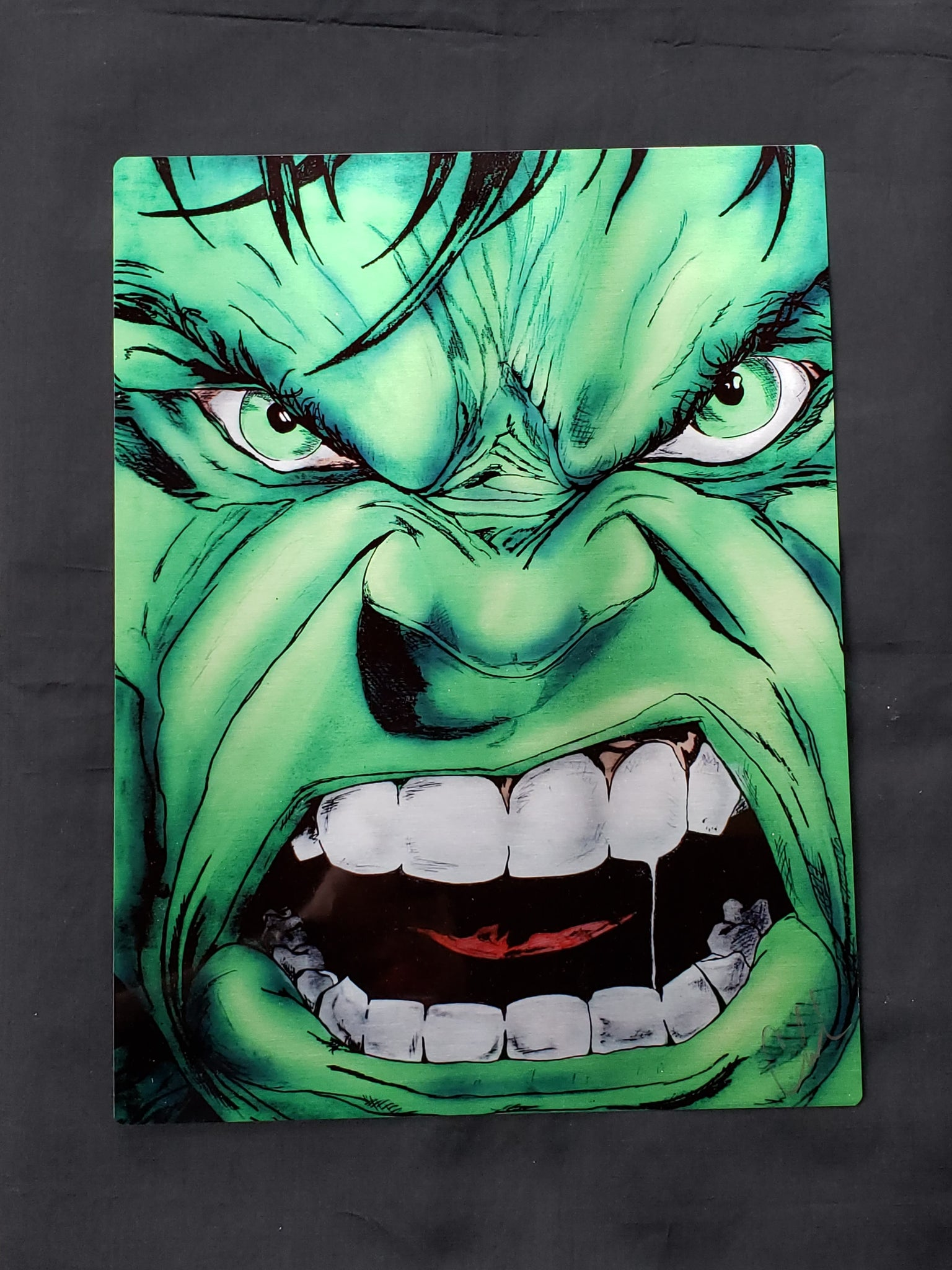 Hulk color Metal Art Print