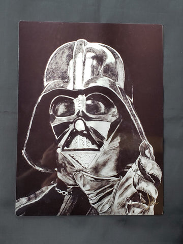 Darth Vader Metal Art Print